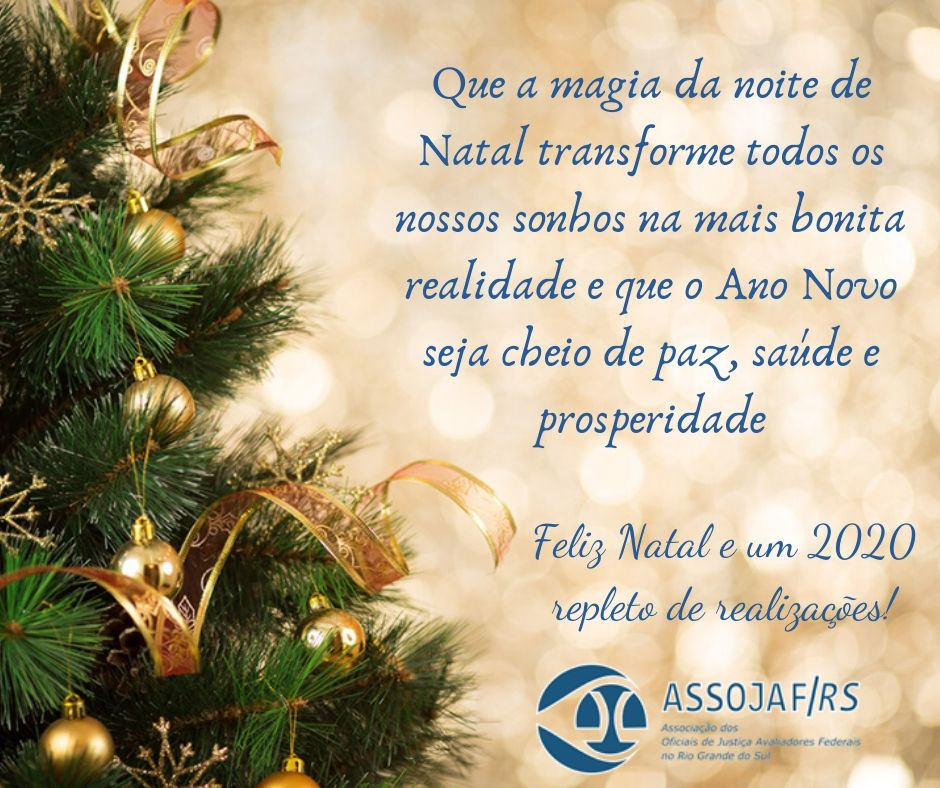Assojaf Rs Deseja Um Feliz Natal E 2020 Repleto De